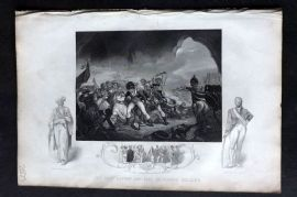 Tallis (Pub) 1853 Military Print. Last Effort of Tippoo Sultaun, India